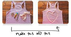 DIY heart cut out shirt