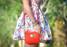 The floral design in this dress is trendy and adds a texture and vibrant look to this dress. <3