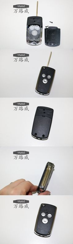Car Key With 3 Buttons Fob Replacement Blank Cover Flip Folding Remote Keyless Housing Shell For Toyota Corolla With Logo