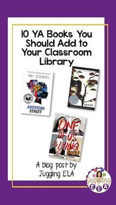 10 YA Books You Should Add to Your Classroom Library High School Literature, Teaching Literature, American Literature, Top Art Schools, Ninth Grade, Seventh Grade, Fun Classroom Activities, Secondary Teacher, Middle School English