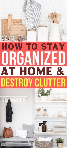 Organization Ideas bedroom How To Stay Organized At Home & Banish Clutter Forever How to Stay Organized at home & destroy clutter for good! These are the BEST organization tips for my entire house! Organization made easy! Home Organization Hacks, Organizing Your Home, Organizing Ideas, Bedroom Organization, Organising, Kitchen Organization, Organizing Papers, Clutter Organization, Household Organization