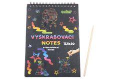 Kreatívne sa odviažte s vyškrabovacím notesom, ktorý má rozmery 13,5 x 20 cm. Na jednotlivých listoch, môžete pomocou vyškrabovacieho pera vytvárať rôzne pestrofarebné obrázky. Dracula, Notes, Unique Jewelry, Handmade Gifts, Etsy, Vintage, Art, Kid Craft Gifts, Art Background