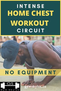 Chest Workouts Without Weights, Workouts Without Equipment, No Equipment Workout, Chest Workout For Men, Home Workout Men, Easy Workouts, At Home Workouts, Chest Exercises, Body Weight Training
