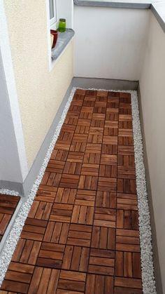 Bodenfliesen Von Ikea Auf Dem Balkon Sehen Super Aus Wei E Kieselsteine Dazu Perfekt