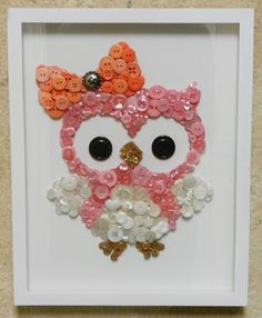 The Baby Owl series features Lucy & Julia Owl. Each beautifully made custom piece comes framed on a 11 x 14 white canvas. This unique piece of