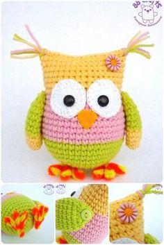 Amigurumi Owl - Free Crochet Pattern - Pattern In Turkish - See https://translate.google.com/translate?sl=auto&tl=en&js=y&prev=_t&hl=en&ie=UTF-8&u=http%3A%2F%2Famigurumiaskina.blogspot.com.tr%2F2014%2F03%2Famigurumiye-yeni-baslayanlar-icin.html For English Pattern Translation - (amigurumiaskina.blogspot)