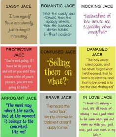 I am in love with Jace. I'm away from my Mortal Instruments books, but keeping myself involved with the characters through Pinterest :)