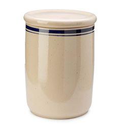 Large Hearthside Ceramic Crock With Lid