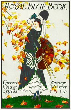 ๑ Nineteen Fourteen ๑  historical happenings, fashion, art & style from a century ago - The Royal Blue Book of Correct Corset Styles - autumn/winter 1914