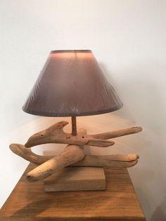 Lampe en bois flotté 13