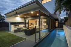 :: THE AVENUE :: Gallery :: Big House Little House :: Big Houses Inside, House Inside, Residential Building Design, Camp Hill, Large Backyard, Backyard Ideas, Indoor Outdoor Living, Modern Kitchen Design, Living Spaces