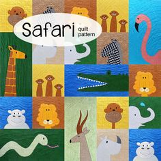 Make a fun applique quilt with all the cuddliest safari animals. The pattern is designed especially for beginners!