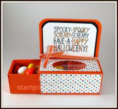 Stampingwithamore: BOO! I SEE YOU SLIDER TREAT BOX