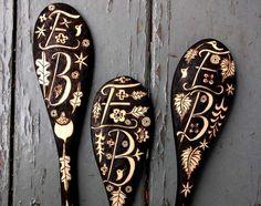 Monogrammed Wooden Spoons