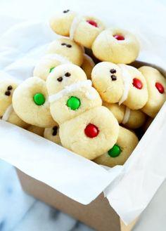 Easy Gluten Free Snowman Sugar Cookies