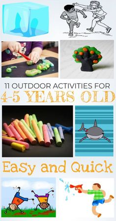 11 Outdoor Activities for 4 – 5 Year Olds If you're a parent, then you know that having kids requires a great amount of energy and imagination. You want them to always have the best experience they can have, . 5 Year Old Games, Activities For 5 Year Olds, Nanny Activities, Toddler Activities, Preschool Activities, Babysitting Fun, Kindergarten Fun, Camping Activities, Games