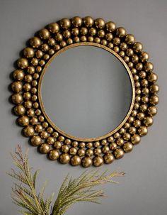 Copper & Gold Sunburst Mirror - The Forest & Co. Mirror Crafts, Diy Mirror, Wall Mirror Ideas, Circular Mirror, Metal Mirror, Round Decorative Mirror, Diy Home Crafts, Diy Home Decor, Crafts For The Home