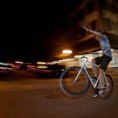 Biking around Savannah at night!