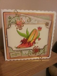 Another card with Katy Sue designs fabulous shoes..the outer flowers are a marrianne die coloured with twinkle inks..:-D