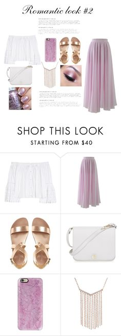 """""""Romantic look #2"""" by irum-t ❤ liked on Polyvore featuring Carolina Herrera, Chicwish, Furla, Casetify and Too Faced Cosmetics"""