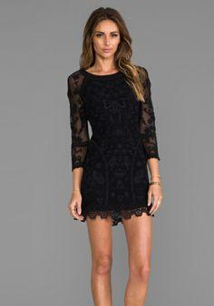 Lace Dress in Black - Lyst