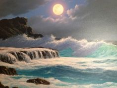 """Original Painting """"Lava Sea 1997"""" by Anthony Casay"""