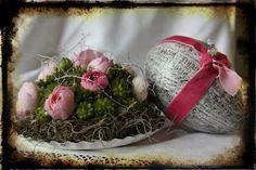 Karin: Blomsterdekorationer till påsk