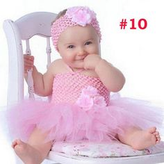 Fancy Princess Tutu Dress Holiday Flower Double Layers Fluffy Baby Dress with Headband Photo Props