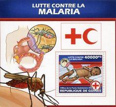 Francobolli . Lotta contro la malaria - Malaria on Stamps Guinea 2013