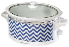 Hamilton Beach - Wrap and Serve 6-Quart Slow Cooker - Blue/White