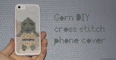 Gorn cross stitch iPhone cover Cross Stitch, Phone Cases, Iphone, Cover, Diy, Crossstitch, Build Your Own, Bricolage, Cross Stitches
