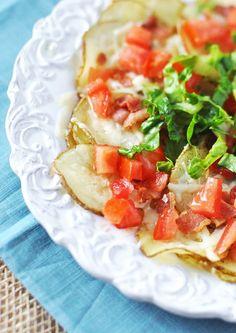 BLT Baked Potato Chip Nachos by Jennifer Leal @savorthethyme