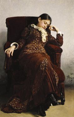 'Even uitrusten', 1882 / Ilja Repin (1844-1930) / Tretjakovgalerij, Moskou, Rusland.