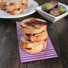 Decadent Goat Cheese Honey Fig Grilled Cheese #Recipe