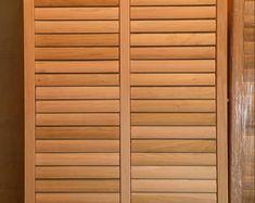Country shutters /Wooden shutters/ Primitive sitting shutters/ | Etsy Country Shutters, Window Shutters Exterior, Diy Shutters, Wooden Shutters, House Shutters, Microsoft, Garden Fence Art, Decorative Panels, Beach House Decor