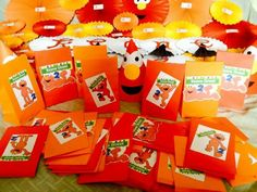 Elmo party loot bags and decors by mhaulikhiels creations