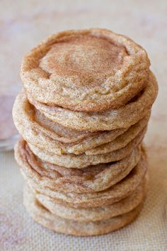 Soft and chewy with crisp edges... these are my favorite snickerdoodles! They're so good you can't stop at just one!