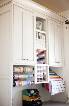 Craft room Wrapping Station. Craft room Wrapping Cabinet. Craft room Wrapping…