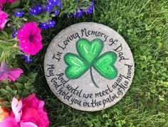 SHAMROCK Stepping Stone, Dad Memorial Gift, Fathers Day Gift, Personalized Garden Gift, Gift for Dad, Sympathy, Father Irish Gift, Garden by samdesigns22 on Etsy Gifts For Dad, Fathers Day Gifts, Bride Wine Glass, Memorial Garden Stones, In Memory Of Dad, Bereavement Gift, Personalized Photo Gifts, White Gift Boxes, Retirement Gifts