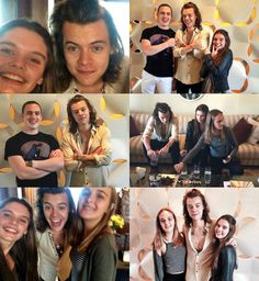 Harry with fans.