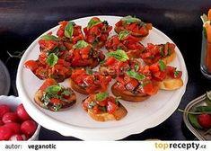 Bruschetta Recept, Vegetarian Recipes, Vegan, Ethnic Recipes, Party, Food, Essen, Parties, Meals