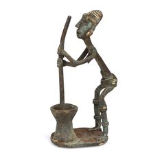 Ashanti Brass Female Figure #1644 | Figures | Metal — Deco Art Africa - Decorative African Art - Ethnic Tribal Art - Art Deco