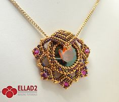 Tutorial Leia Pendant-Beading tutorial Instant by Ellad2 on Etsy