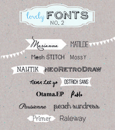 Ann.Meer by Anna-Maria Dahms: Lovely Fonts #2