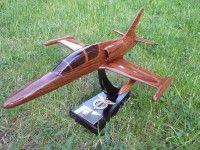 87777Dřeivěný model letadla - stíhačky české výroby AERO L 159 ALCA