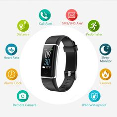 VINSO TECH Fitness Tracker Bluetooth Smart Watch Incoming Call Message Reminder Full Color Screen Heart Rate Monitor 14 Sports Modes Step Counter Android iOS … ** Visit the image link more details. (This is an affiliate link) Fitness Devices, Running Wear, Remote Camera, Heart Rate Monitor, Wearable Technology, Fitbit Alta, Fitness Tracker, Physical Fitness, Smart Watch