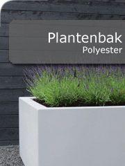 Polyester plantenbak, In diverse maten en in alle RAL kleuren Te bestellen in onze webshop. Prijzen altijd minimaal 5% onder advies prijzen.   http://www.hettuinleven.com/c-2129446/polyester/