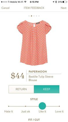 I have this top in green (petite medium) and it's my favorite top. Hint hint! I would love it in every color!