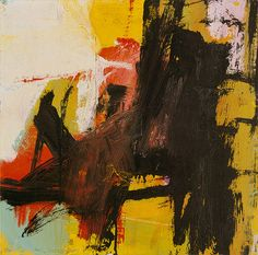 Black Reflections, 1959  Franz Kline (American, 1910–1962)  Oil and pasted paper on paper, mounted on Masonite  19 x 19 3/8 in.