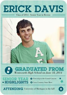 Iconic Credentials - Graduation Announcements in Reef Blue. #graduation